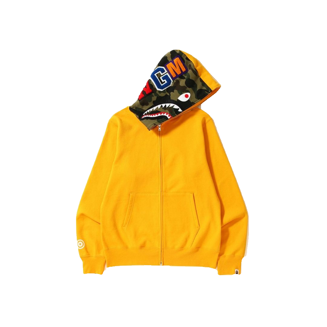 A Bathing Ape Shark Full Zip Hoodie - Yellow
