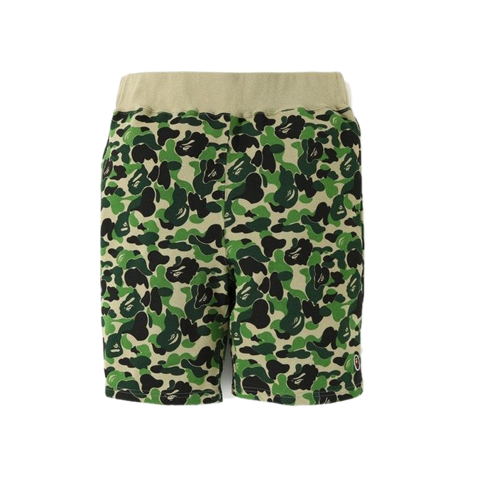 A Bathing Ape ABC One point Sweat Shorts - Green Camo