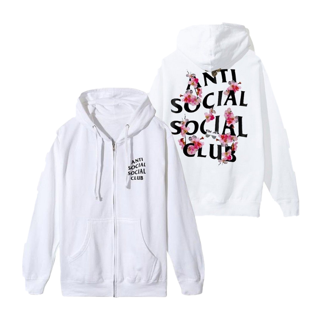 Anti Social Social Club Kkoch Zip Up Jacket - White