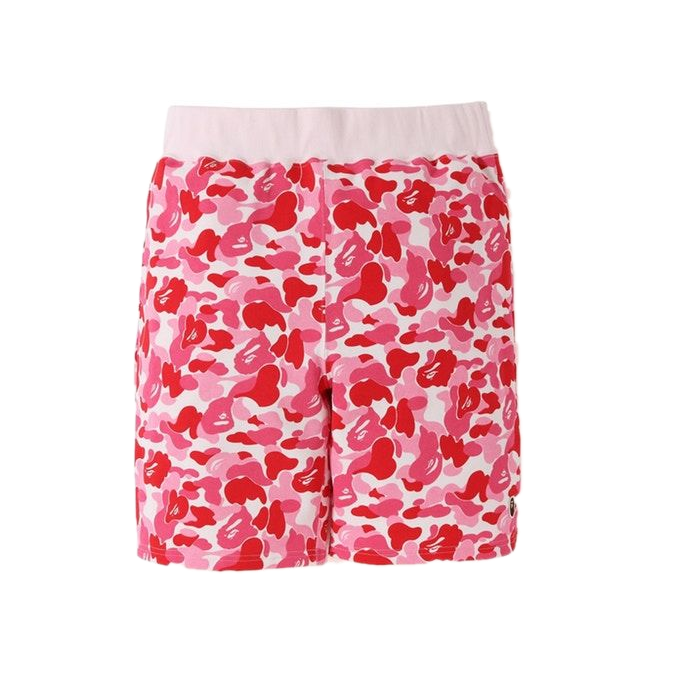 A Bathing Ape ABC One point Sweat Shorts - Pink Camo
