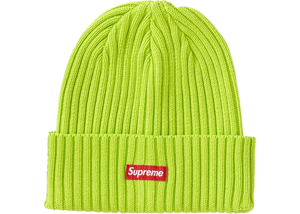 Supreme Overdyed Ribbed Beanie - Lime