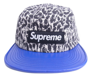 Supreme Leopard Leather Visor Camp Cap - Used