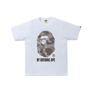 A Bathing Ape Color Camo By Bathing Ape Tee - White/Grey