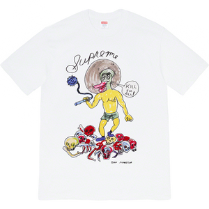 Supreme Daniel Johnston Kill Em All Tee - White