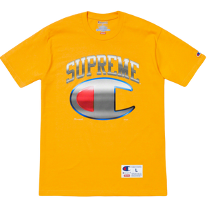 Supreme x Champion Chrome Logo Tee - Yellow - Used