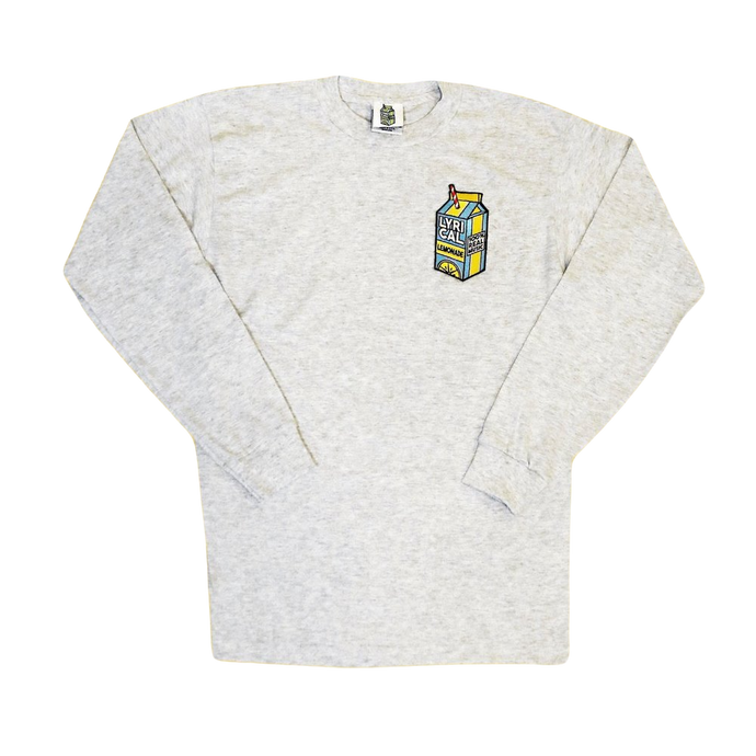 Lyrical Lemonade Carton Patch Long Sleeve - Grey