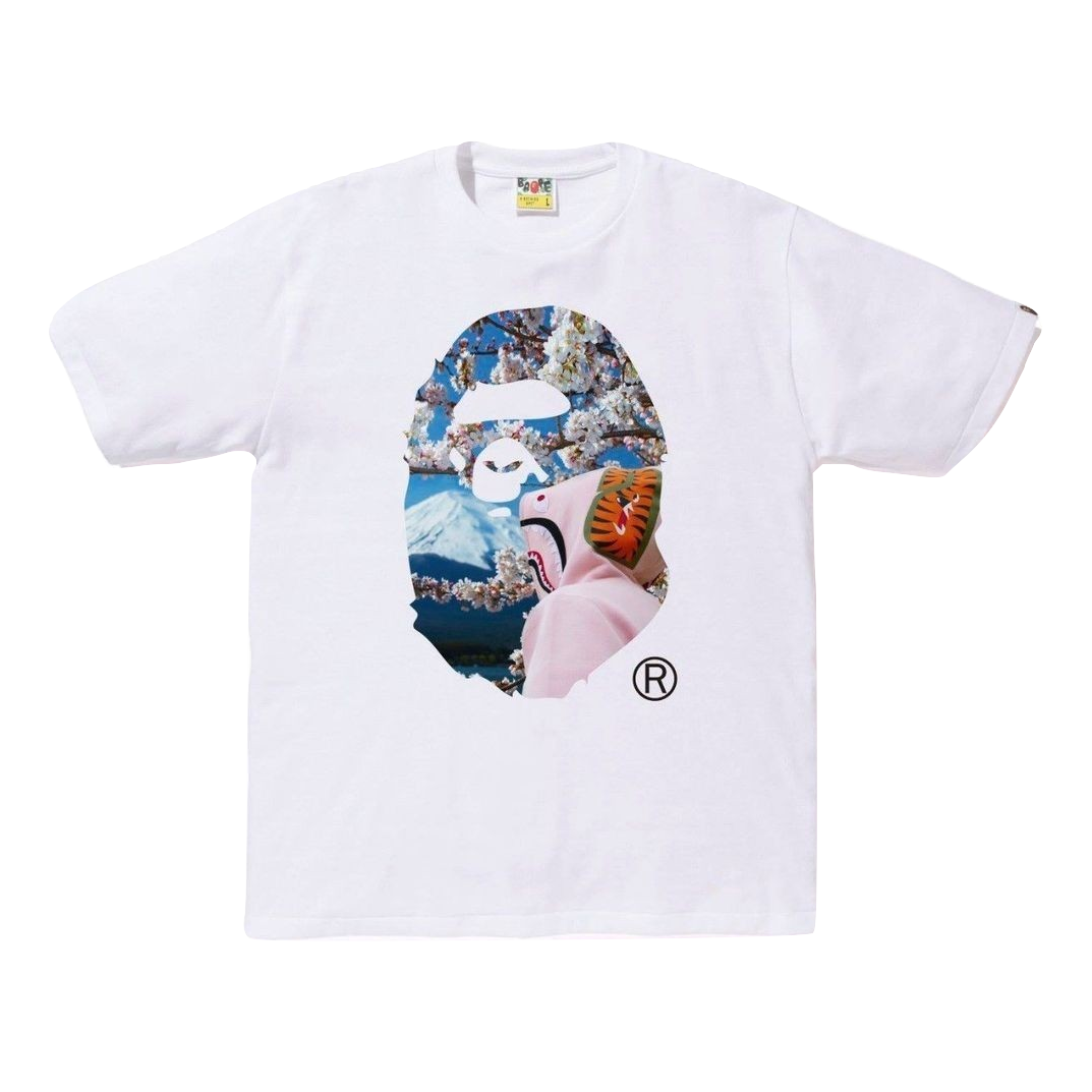 A Bathing Ape Sakura Ape Head Photo Tee