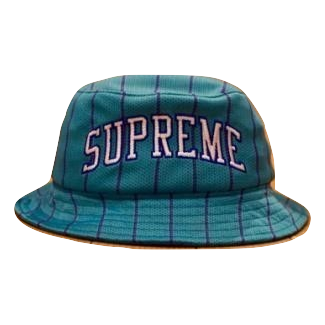 Supreme Stripe Mesh Crusher Bucket Hat - Used