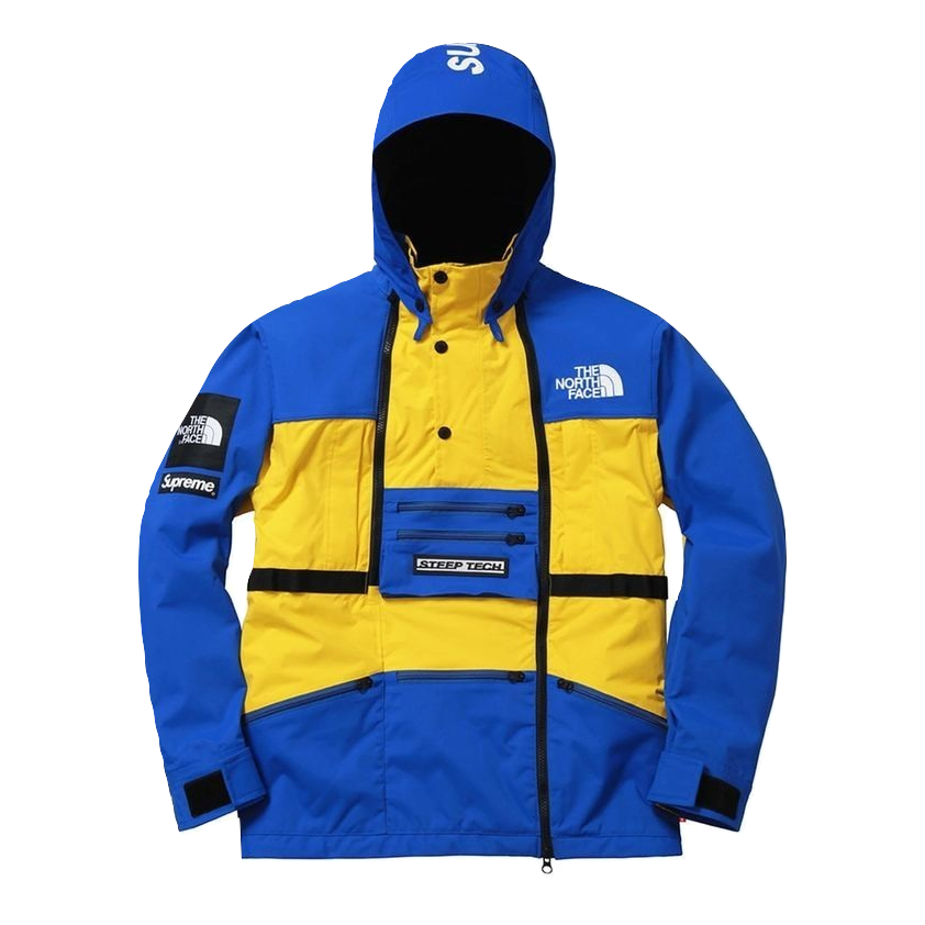 Supreme/The North Face Steep Tech Hooded Jacket - Yellow/Blue