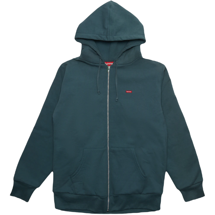 Supreme Small Box Thermal Zip Up Sweat - Slate - Used