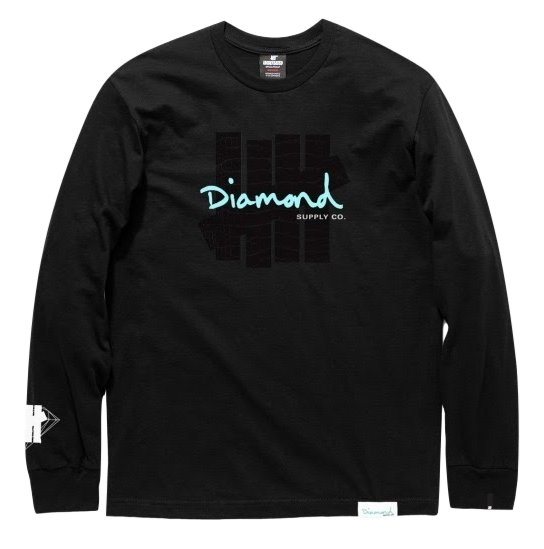 UNDEFEATED x Diamond Supply Co. Diamond Long Sleeve - Black