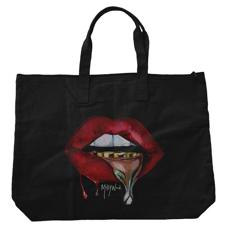 Skin Deep Canvas Zippered Bag - CREATED BY HUMAN