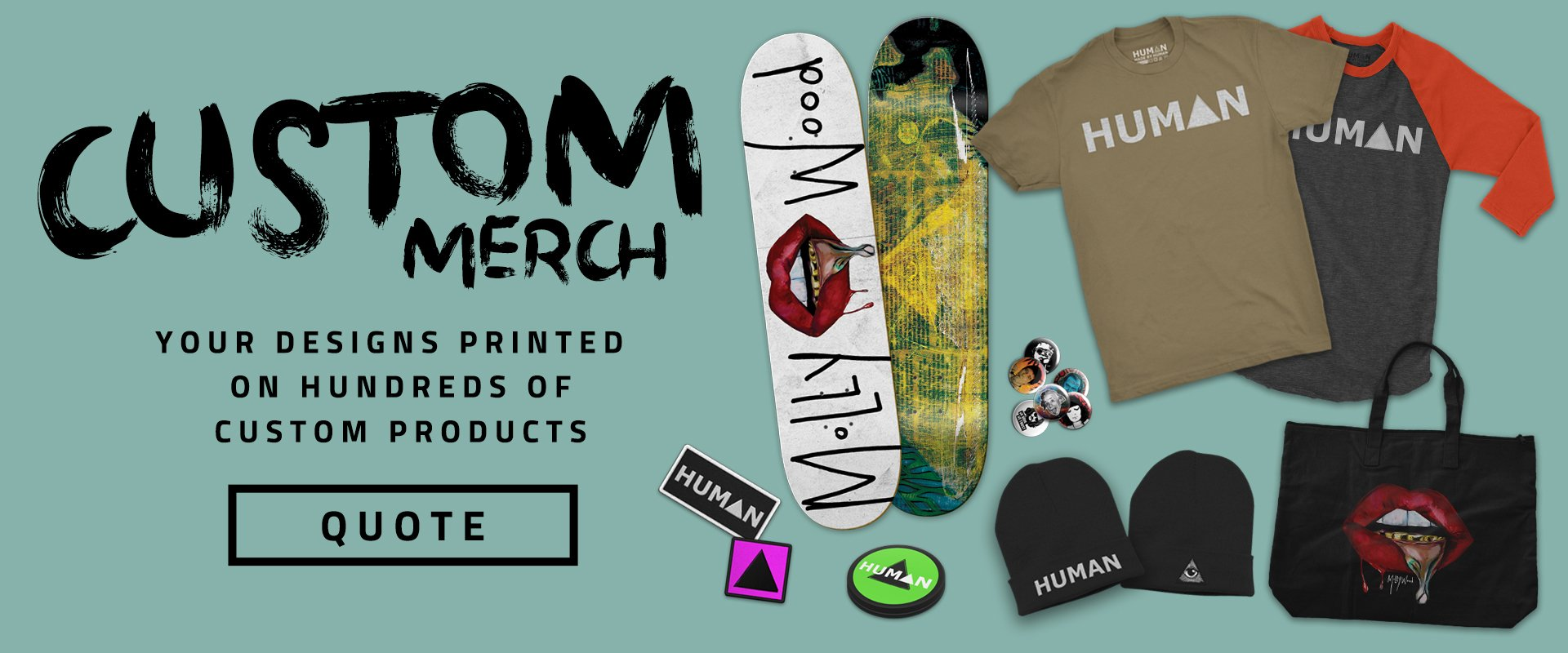 Created by Human | Custom Merch