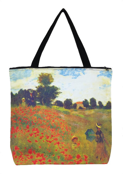 Art Print Bag Monet Poppies