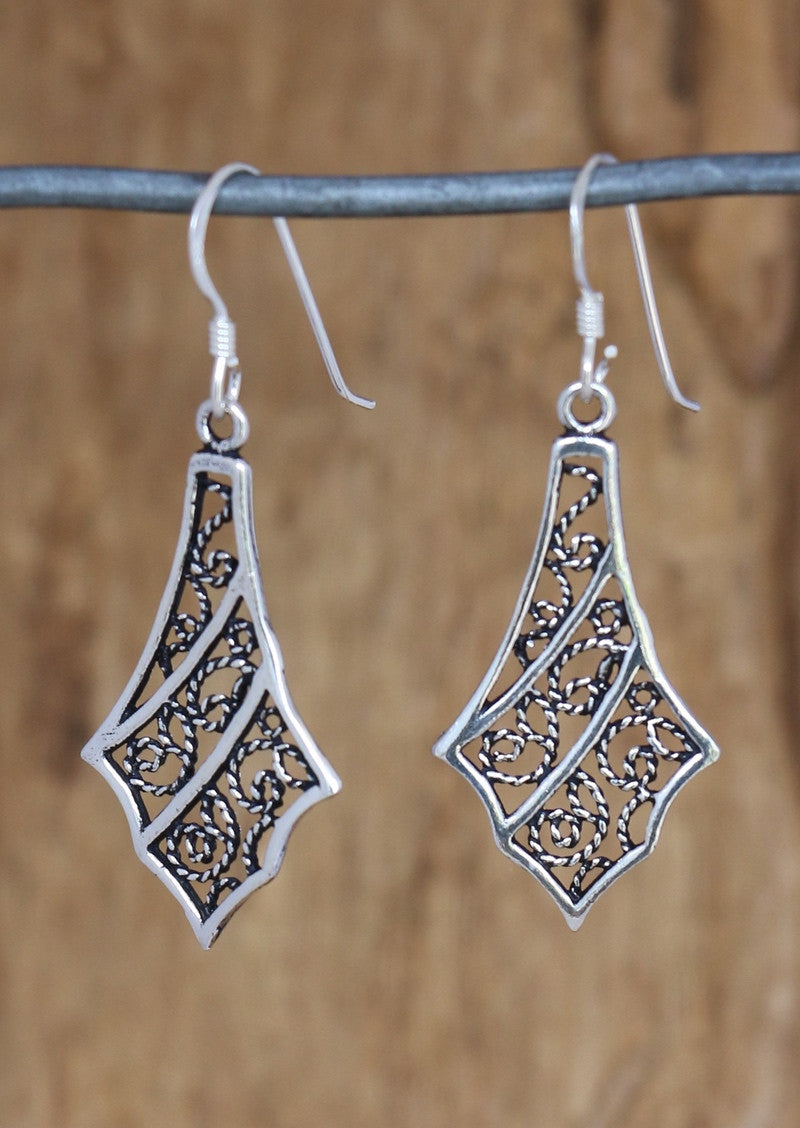 Silver Gothic Earrings