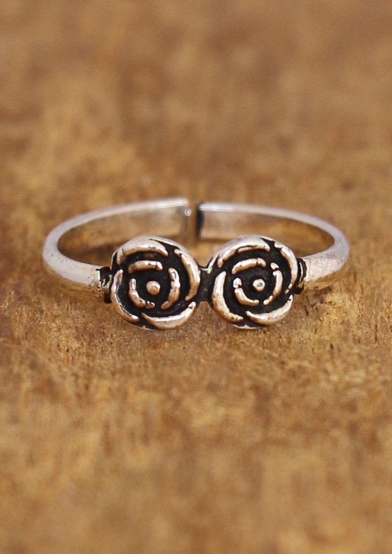 Double Rose Toe Ring