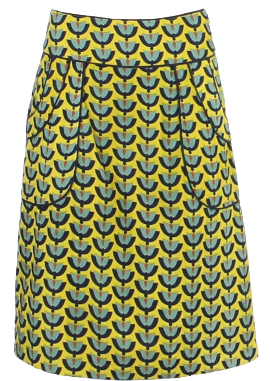 Bridgette Skirt Cord Yellow Tulips