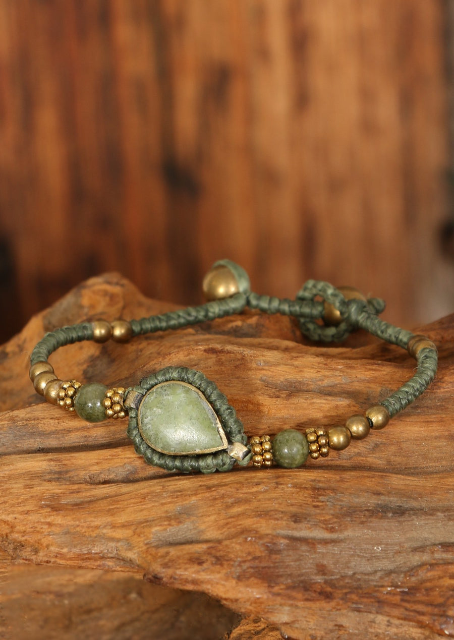 Green Droplet Bracelet