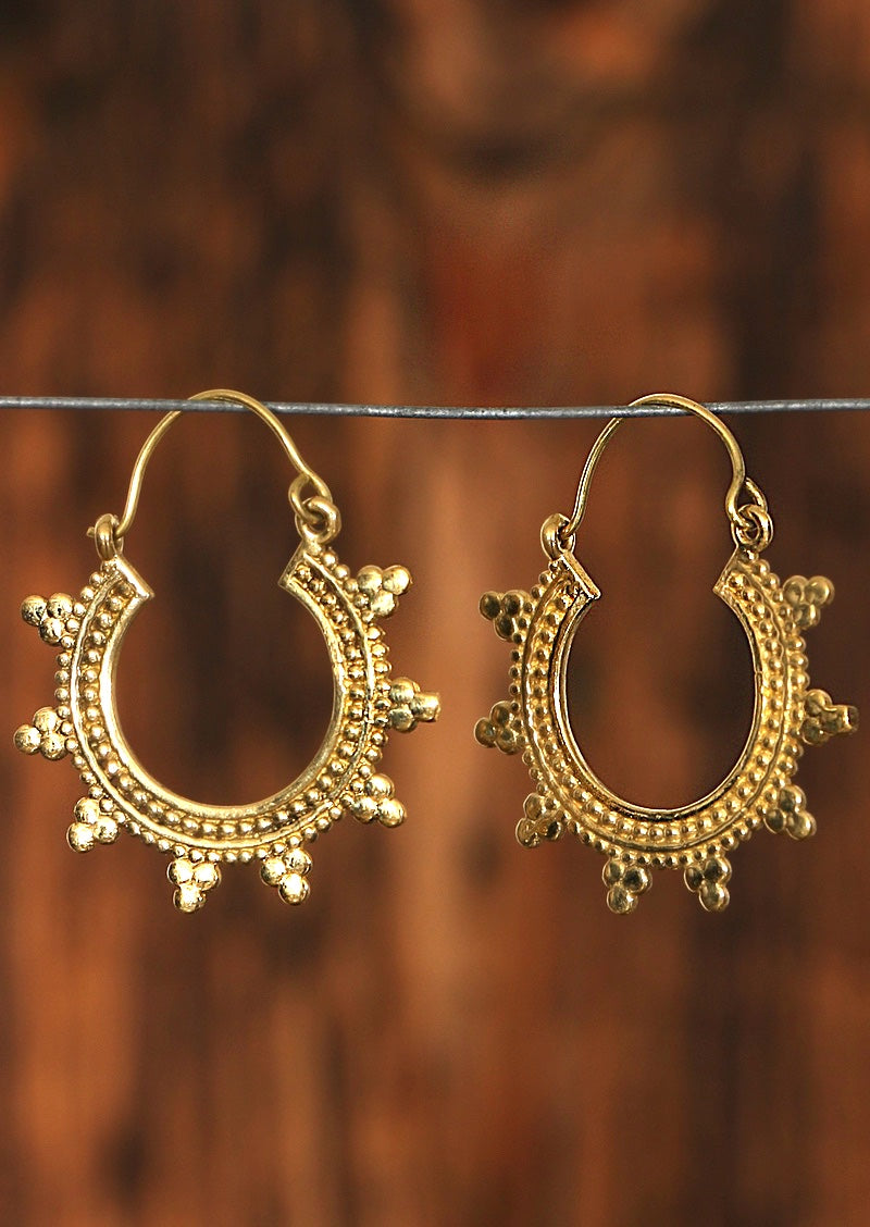 Meraki Brass hoop Earrings