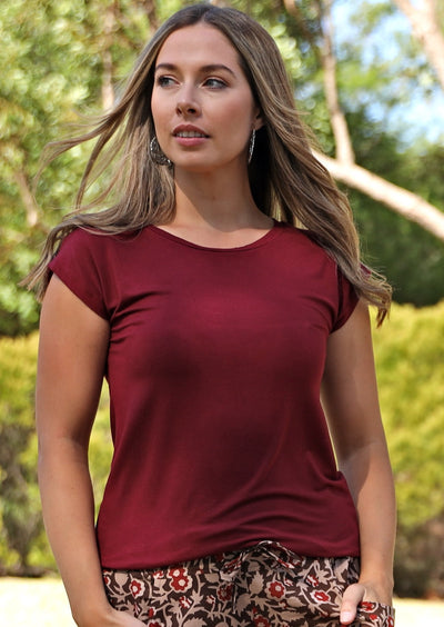 Shell T-shirt Maroon