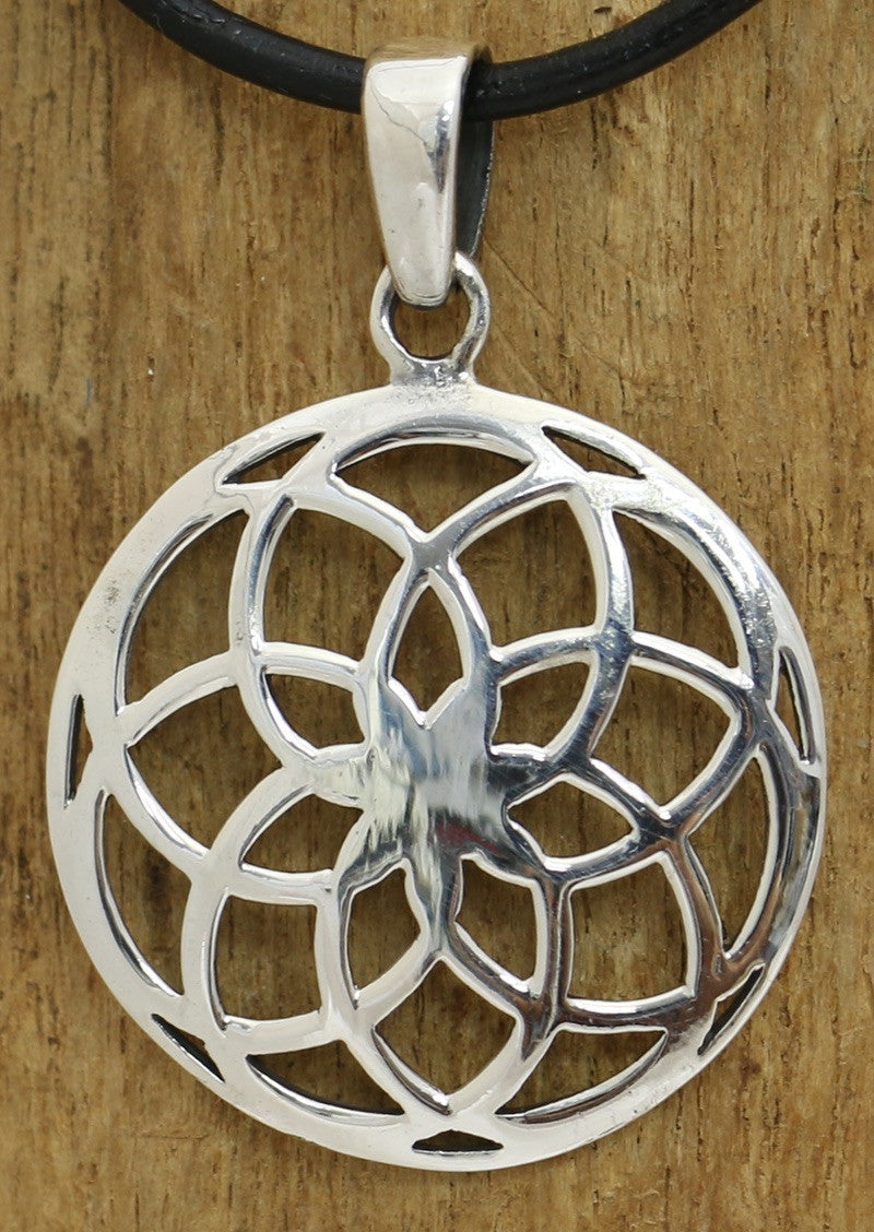 Sterling Silver Spiros Pendant