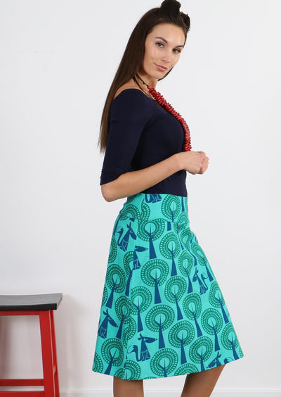 Fox in the Forest A-line Skirt