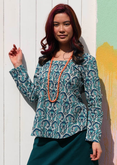 Tulsi Long Sleeve Top Cornflower