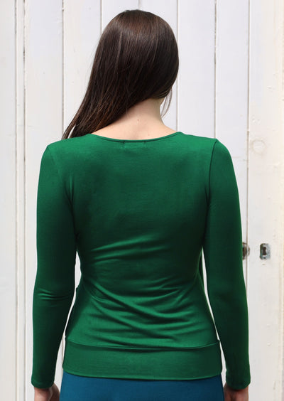 False Wrap Top Green