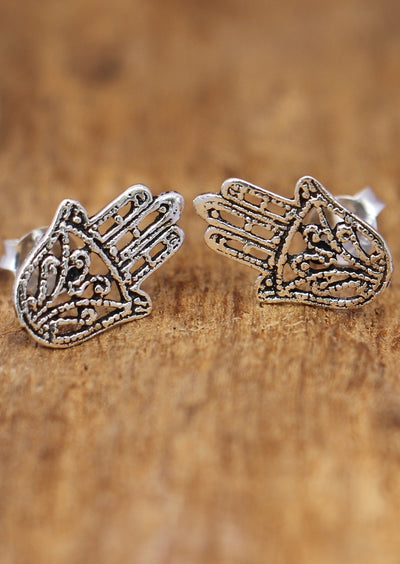 Angel Wings Silver Earrings | 92.5 Sterling Silver | Karma East