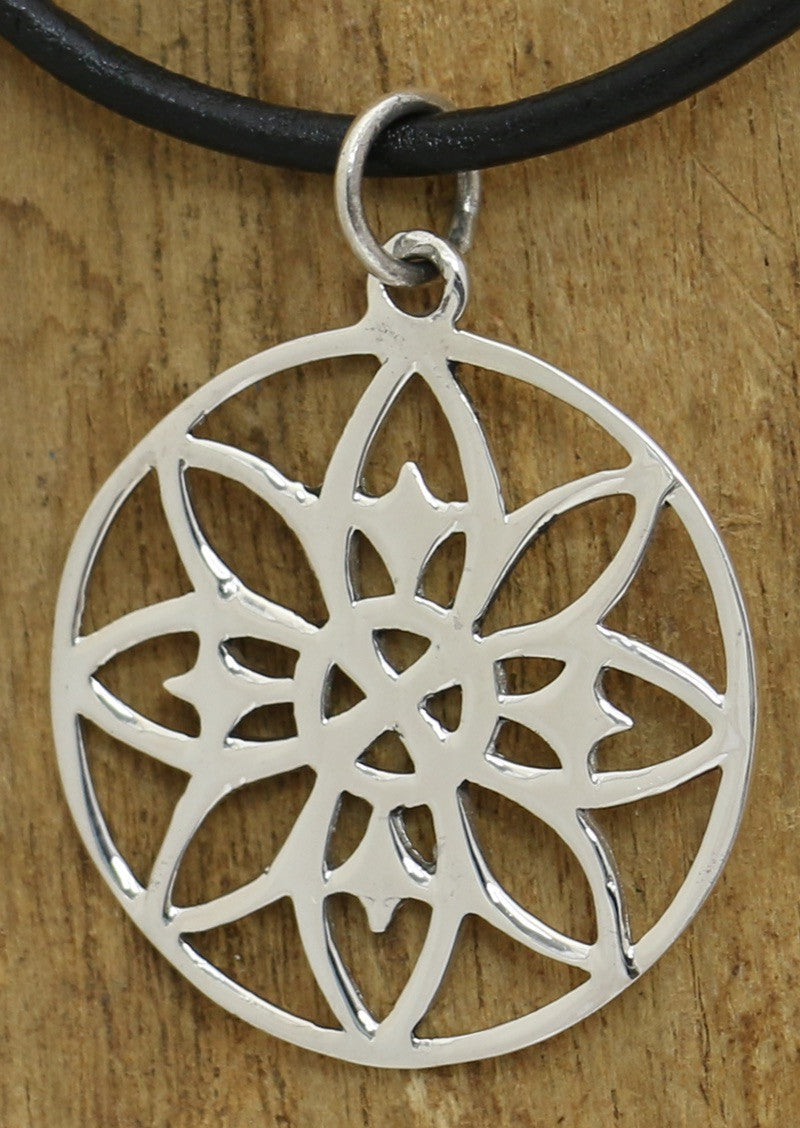 Sunflower Geometry Pendant