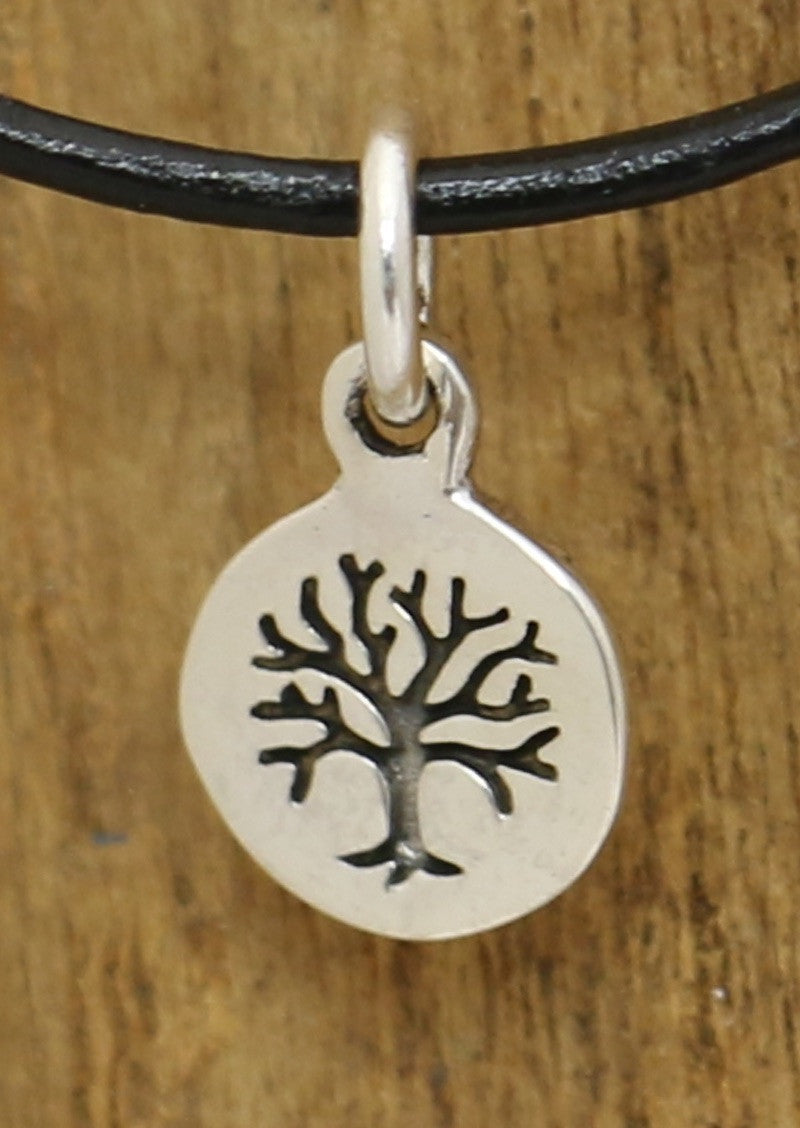Small Silver Tree of Life Disc