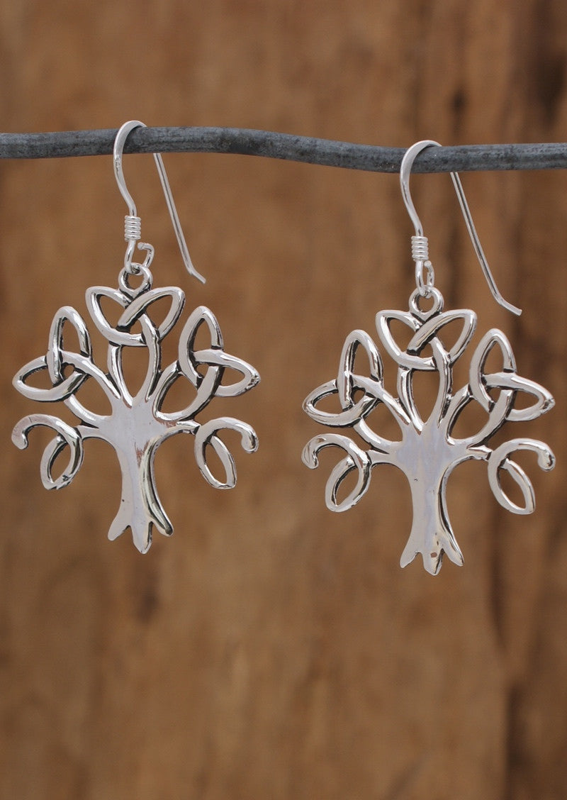 Stirling Silver Celtic Tree Earrings, Shop genuine 92.5 sterling silver