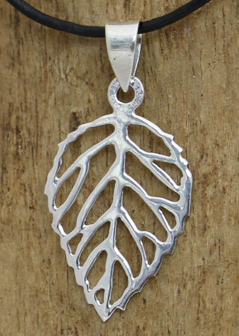 Stirling Silver Drop Leaf Pendant