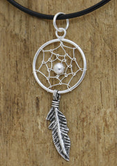 Silver Dreamcatching Pendant