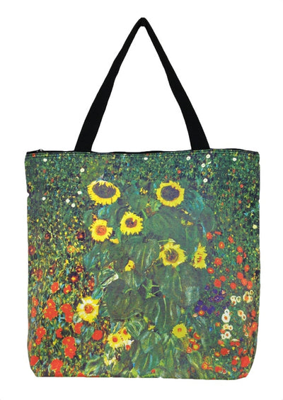 Art Print Bag Klimt Sunflowers