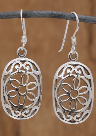 Mandala Shield Earring