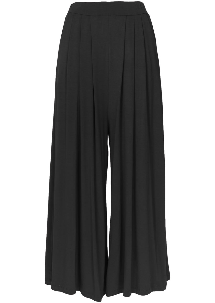 Wide Leg Stretch Pocket Pants Black