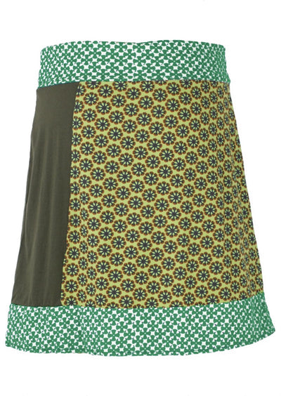 Snow Flakes Skirt Green