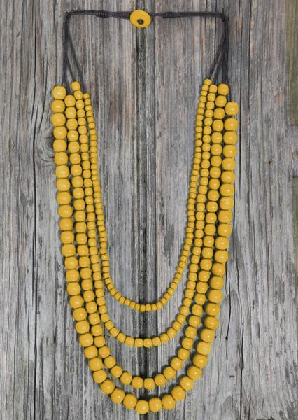 Layered Bead Necklace Yellow | Karma East Australia