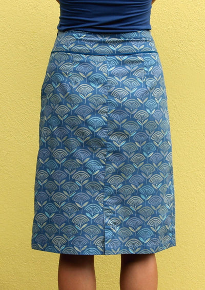 Bridgette Skirt Fan Flower Blue