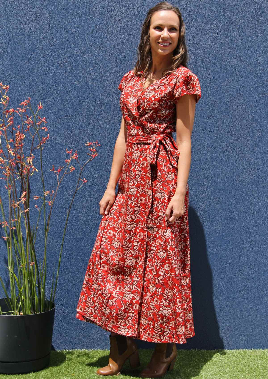 Francesca Dress Desert Rose