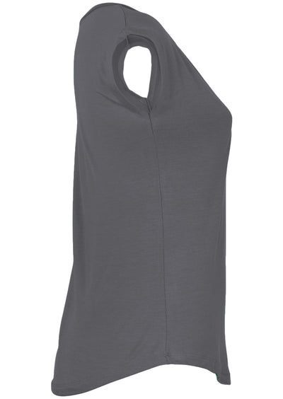 Simple Top V-neck Dark Grey