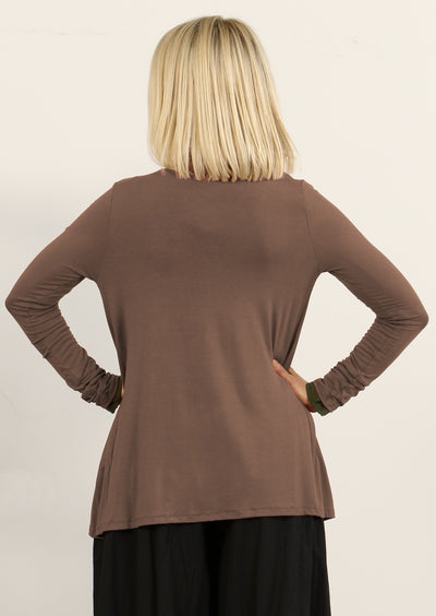Long Sleeve Stretch Cardi Cocoa