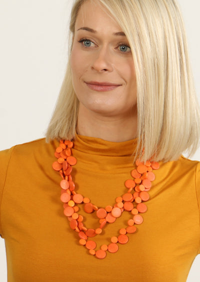 Layered Necklace Orange | Karma East Australia