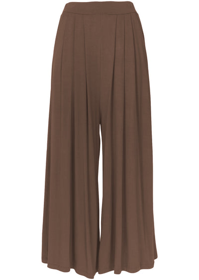 Wide Leg Stretch Pocket Pants Cocoa