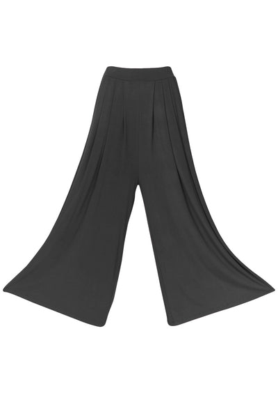 Wide Leg Stretch Pocket Pants Dark Grey
