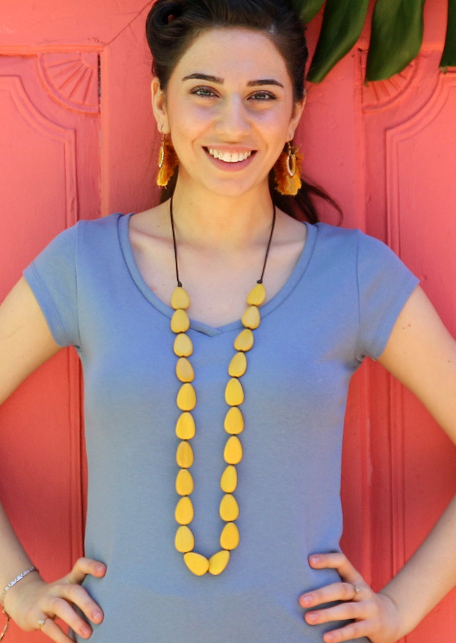Layla Long Necklace Yellow