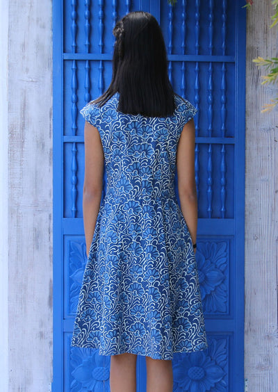 Alice Dress Blue Lotus