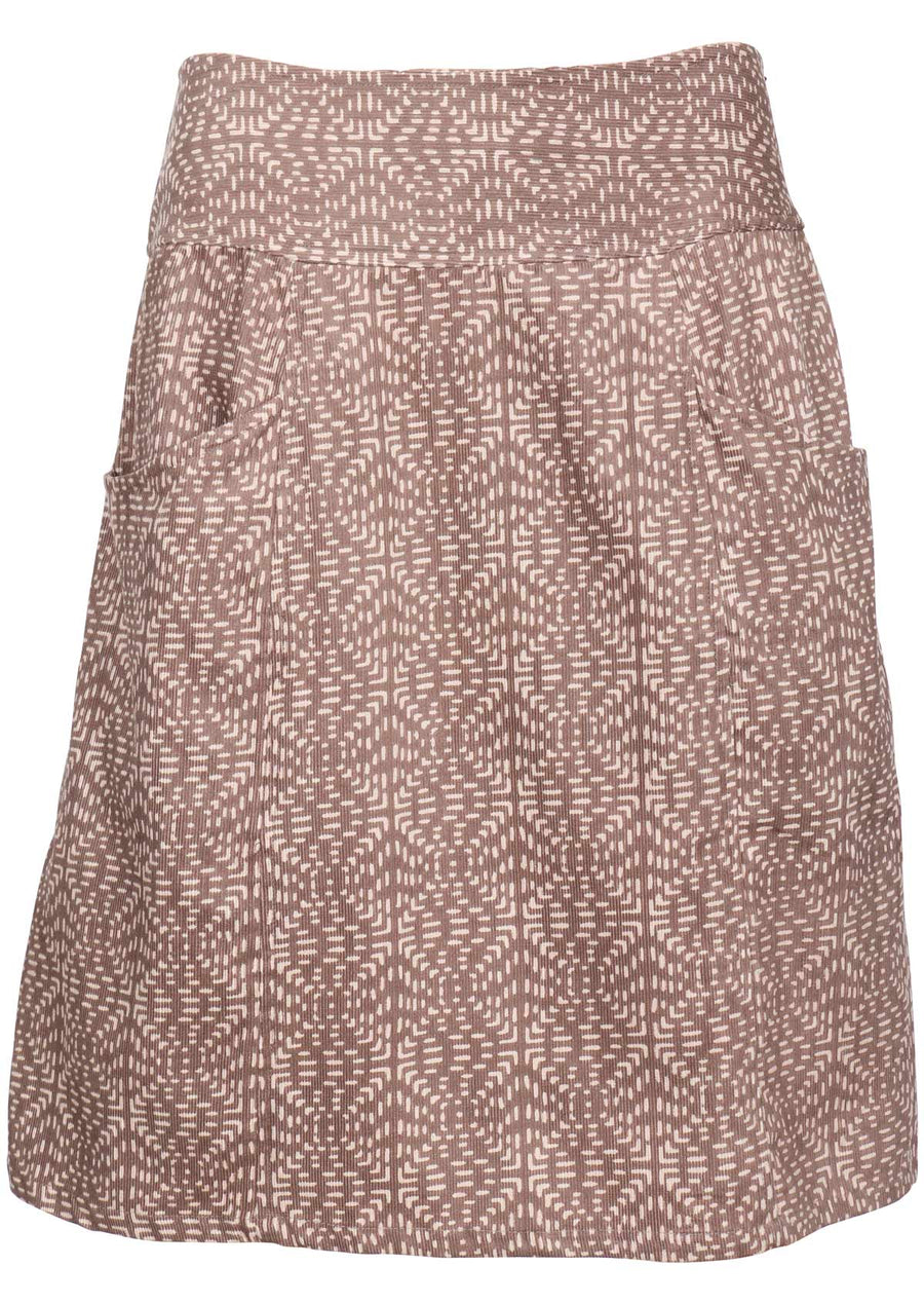 Square Stitch Aalia Skirt Latte