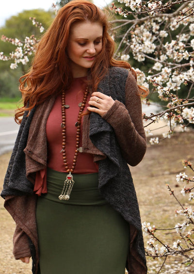 Tauriel Jacket Brown/Charcoal